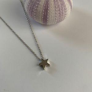 Jewelry - Beach Jewelry / Silver Star Necklace / Minimalist